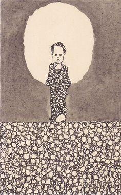 Title:Kind mit Nimbus auf einer Blumenwiese (Child with nimbus on a flowery meadow)    Creator: Egon Schiele    Year: 1909
