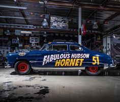 The Fablous Hudson Hornet Muscle Cars Vintage, Vintage Race Car, Old Race Cars, Us Cars, Film Cars, Movie Cars, Hornet 600, Nascar, Hudson Car