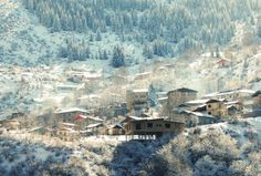 A village in the Northern mountains of Iran Creative Photography, Amazing Photography, Landscape Photography, Cool Pictures, Cool Photos, Beautiful Landscapes, Beautiful Scenery, Amazing Nature, Wonderful Places