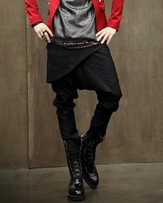 Show Yourself Punk Style Mens Casual Harem Pants Multi Buttons Design   eBay