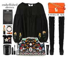 """Embellished Sleeves"" by doga1 ❤ liked on Polyvore featuring Boohoo, Dolce&Gabbana, Topshop, Bobbi Brown Cosmetics, MAC Cosmetics, Aesop, Givenchy, Diptyque, NARS Cosmetics and embellishedsleeves"