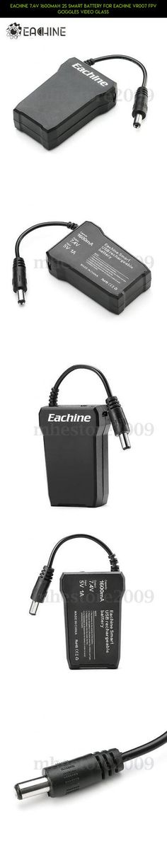 Eachine 7.4V 1600mAh 2S Smart Battery For Eachine VR007 FPV Goggles Video Glass #drone #kit #tech #fpv #parts #racing #7.4 #camera #gadgets #eachine #plans #technology #shopping #products