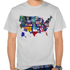 #American Map State Flags #Mosaic T-shirt. If you'd like this design on a different style or color t-shirt, check out my store: www.zazzle.com/celticana*/ to see the full range.
