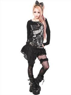 2WAY BLACK FRILL Culotte Skirt (F) SC01109-101 SEX POT ReVeNGE APPAREL. See more at http://www.cdjapan.co.jp/apparel/ #punk #japanesefashion