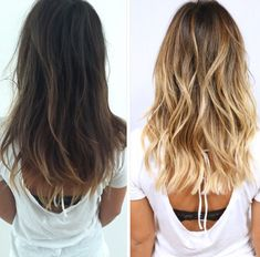 hair color inspiration, brunette to blonde. Blonde Wavy Hair, Icy Blonde, Bright Blonde, Dark Brown To Blonde Balayage, Blonde Layers, Balayage Straight, Straight Hair, Curly Hair, Blonde Haircuts
