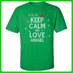 Keep Calm And Love Angel Ugly Christmas Sweater - Adult Shirt Xl Irish-green - Holiday and seasonal shirts (*Amazon Partner-Link)