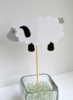 Ewe Centerpieces  Lamb Decor  Baby Shower by GoinChicBoutique