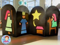 Kerst, venster voor kleuters , kleuteridee.nl ,Christmas nativity, christmas window, free printable