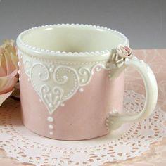 Heart Lace Mug