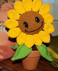 Zombies Sunflower Amigurumi Pattern by Julianne Winter Awareness Ribbons, Cancer Awareness, Christmas Afghan, Plants Vs Zombies, Sunflower Pattern, Couture, Crochet Flowers, Etsy Store, Needlework