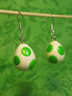 Super Mario Yoshi Egg Earrings   Community Post: 40 Pieces Of Jewelry Every Nerd Will Love