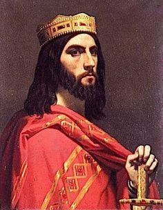 """King Dagobert I (603-639) - King of Austrasia, King of all of the Franks & King of Neustria & Burgundy. He was the last Merovingian King to wield any real power. He's also my 40th, 43rd, 44th, 45th (x2) & 49th GGF. Son of King Chothar II """"The Great"""", grandson of King Chilperic I & great grandson of King Clotaire I & Queen Aregund."""