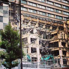 Demolition work at Otsuma Women s University, Sanbancho, Chiyoda ward.