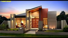 modern house elevation one floor with english country house garden design and bl. - modern house elevation one floor with english country house garden design and blue house wooden doo - 4 Bedroom House Designs, Bedroom House Plans, Minimalist House Design, Modern House Design, Modern Minimalist, Contemporary Design, Modern House Plans, House Floor Plans, Home Modern