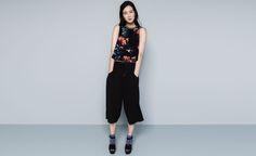 Pull&Bear - mujer - blusas y camisas - blusa top estampada - negro - 09472360-I2014