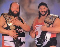 WWF Tag Team Champions The Natural Disasters (Earthquake and Typhoon)