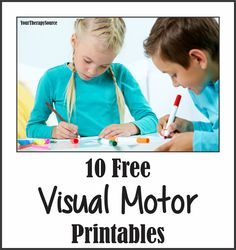 Your Therapy Source: 10 Visual Motor Freebies. Pinned by SOS Inc. Visual Motor Activities, Visual Perceptual Activities, Sensory Activities, Sensory Rooms, Oral Motor, Gross Motor, Occupational Therapy Activities, Motor Planning, Vision Therapy