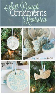 Beautiful Easy Salt Dough Ornaments - great for kids! | Saynotsweetanne.com | #Christmas #Kids #Ornaments #DIY