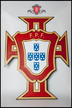 Portuguese Soccer Federation Emblem Completed - made using CNC router and hand painted.