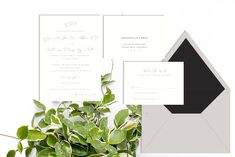 Wedding invitations for every season - winter wedding with silver foil stamped invitation with calligraphy and grey and black accents - Leah E. Moss Designs, available now for purchase online Foil Stamped Wedding Invitations, Winter Wedding Invitations, Letterpress Invitations, Watercolor Invitations, Elegant Invitations, Wedding Invitation Design, Custom Invitations, Wedding Stationery, First Wedding Anniversary Gift