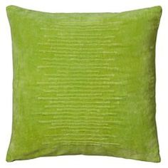 Rizzy Home Textured Stripe Decorative Pillow - Lime