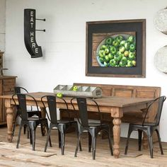 Park Hill Collection Old Pine Farm Table - NB236
