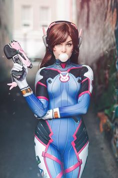 D.Va from Overwatch by Ri Care @ facebook.com/riannacare - More at https://pinterest.com/supergirlsart #rianna #riannacare #ricare #hot #sexy #cosplay #girl #cosplaygirl #dva