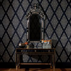 Graham & Brown - Jewel Wallpaper at 2Modern. Master bathroom.