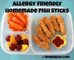 Allergy Friendly Homemade Fish Sticks MOMables.com
