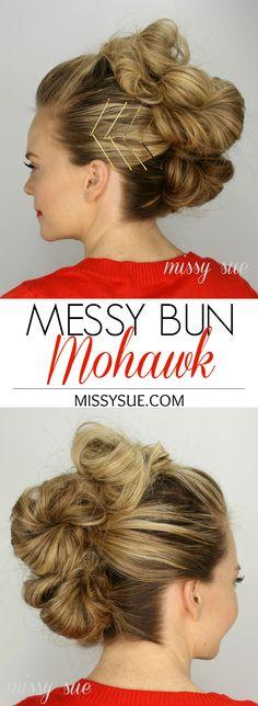 Messy Bun Mohawk | MissySue.com