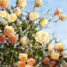 Buy Yellow roses - medium size - 50X50 cm, Mixed Media painting by Fabienne Monestier on Artfinder. Discover thousands of other original paintings, prints, sculptures and photography from independent artists.