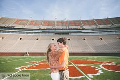 Clemson Girl Wedding Wednesday - Clemson Engagement Photos in Death Valley - Siara and Justin. Plus wedding photos at Madren Center. So many amazing photos!