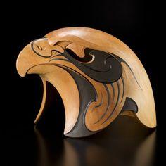 Kārearea • The Rain Bird by Todd Couper, Māori artist (KX70301)