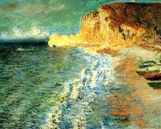 Claude Monet - Morning at Etretat (1883)