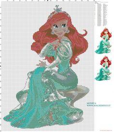 Princess Ariel cross stitch pattern