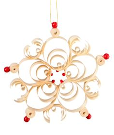 Käthe Wohlfahrt - Online Shop | Ornament with red pearls | Rothenburg ob der TauberOrnament with red pearls