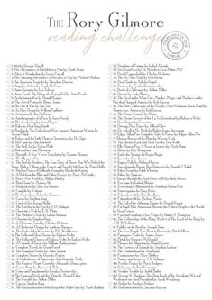 The Rory Gilmore Reading Checklist / Free Printable – Copper BoomYou can find Reading lists and more on our website.The Rory Gilmore Reading Checklist / Free Printabl. Free Books To Read, I Love Books, Good Books, Book To Read, Books To Read In Your 20s, Books Everyone Should Read, Book Challenge, Reading Challenge, Reading Lists