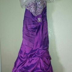 Prom dress Only worn once. Mermaid style dress. Corset back Dresses Prom