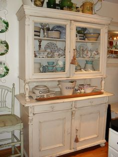 Love This Antique Cupboard To Hang On Wall Over The Antique Oak Icebox,  Minus The Spindle Legs Of Course!