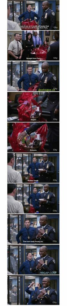 Funniest Pictures Of Gifts vs. Paris ft. Brooklyn Nine-Nine