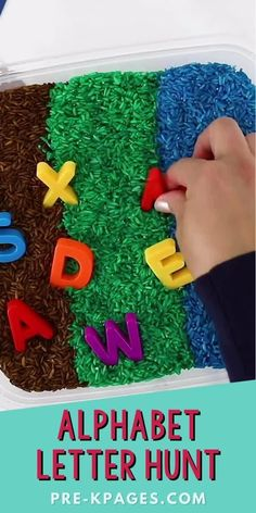 Go on a letter hunt with this super fun, hands-on early literacy activity. This alphabet letter hunt makes the perfect companion activity to go along with the classic children's book, Going on a Bear Hunt by Helen Oxenbury and Michael Rosen. It's a super fun, hands-on literacy activity to motivate your preschoolers to practice letter recognition skills Michael Rosen, Pre K Pages, Kids Learning Activities, Letter Recognition, Early Literacy, Early Education, Preschool, Classroom, Kids Rugs