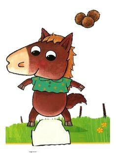 Kleikaart paard