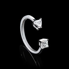 DOUBLE DIAMOND RING by Rosenzweig Jewelry