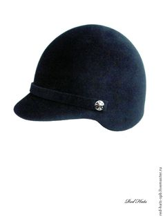 "Купить Кепи ""Жокейка"", фетр-велюр - черный, кепи, кепка, жокейка, фетровая кепи"