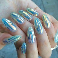 """492 curtidas, 8 comentários - Azucena Calderón (@blitznails_br) no Instagram: """"Glass Nails ⚡⚡⚡ #alongamentoemacrilico #alongamentoemgel #alongamentodeunhas #glasnails…"""""""