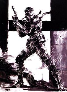 Metal Gear Solid, character design by Yoji Shinkawa. #videogames #art