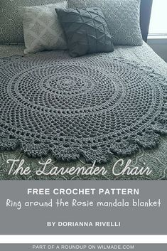 Roundup of 10 free crochet patterns that are great gift ideas for Mother's Day by wilmade.com. Including this beautiful ring around the rosie mandala blanket