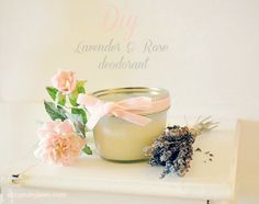 DIY Lavender and Rose Deodorant