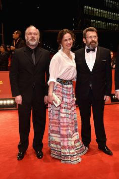 Actor Vlad Ivanov, Screenwriter Iulia Lumanare and actor Adrian Titieni attend the 'Ana, mon amour' premiere during the 67th Berlinale International Film Festival Berlin at Berlinale Palace on February 17, 2017 in Berlin, Germany.