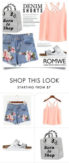 """""""ROMWE competition"""" by captainsilly ❤ liked on Polyvore featuring Birkenstock, romwe, polyvoreeditorial, polyvorestyle and polyvorefashion"""